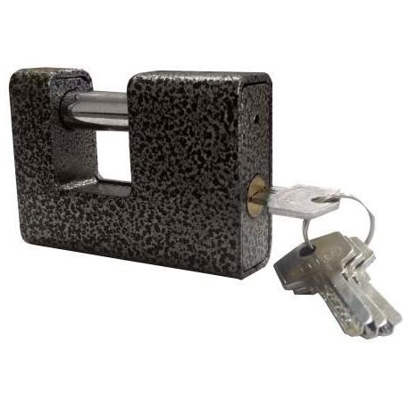 Замок навесной ЭКСТРА с лазерным ключом (коричневый)