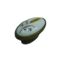 Мебельная ручка-кнопка W042 фарфоровая